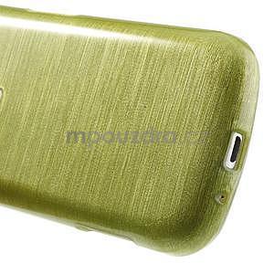 Broušený gélový kryt na Samsung Galaxy S Duos - zeleno žltý - 5