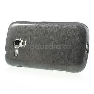 Broušený gélový kryt na Samsung Galaxy S Duos - šedý - 5