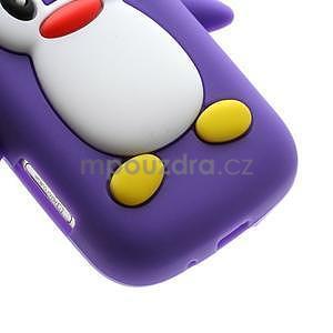 Silikonový obal tučniak pre Samsung Galaxy S Duos - fialový - 5