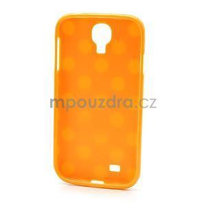 Oranžový puntíkovaný obal na Samsung S4 mini - 5