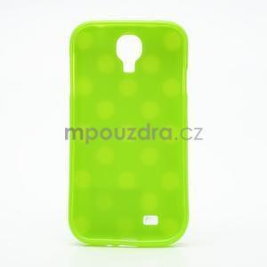 Zelený puntíkovaný obal pre Samsung S4 mini - 5