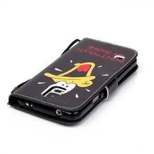 Knížkové PU kožené puzdro pre Samsung Galaxy S5 - káčer - 5