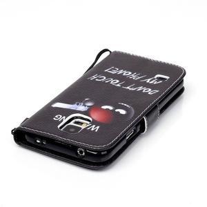 Knížkové PU kožené puzdro pre Samsung Galaxy S5 - varujem ťa - 5
