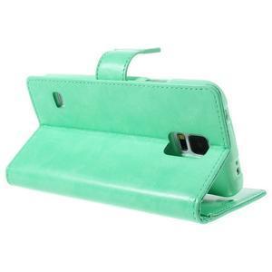 Bluemoon PU kožené puzdro pre Samsung Galaxy S5 - azúrové - 5