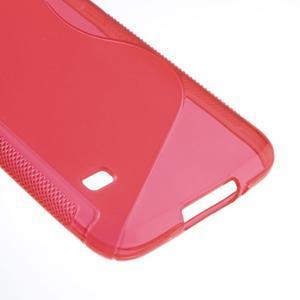 S-line gélový obal pre mobil Samsung Galaxy S5 - červený - 5
