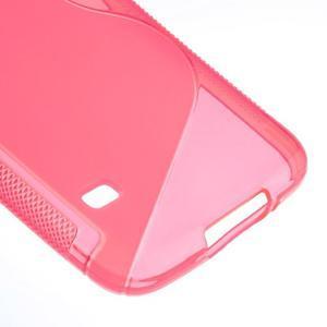 S-line gélový obal pre mobil Samsung Galaxy S5 - rose - 5