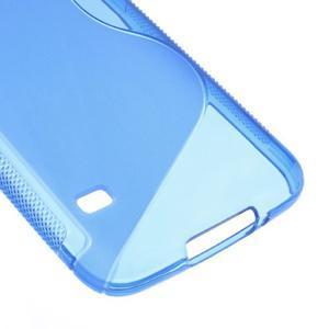 S-line gélový obal pre mobil Samsung Galaxy S5 - modrý - 5