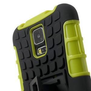 Outdoor odolný kryt pre mobil Samsung Galaxy S5 - zelený - 5