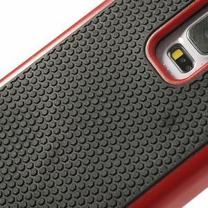 Odolný obal 2v1 pre mobil Samsung Galaxy S5 - červený - 5