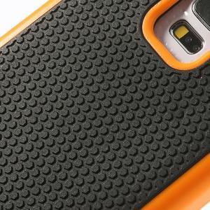Odolný obal 2v1 na mobil Samsung Galaxy S5 - oranžový - 5