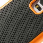 Odolný obal 2v1 na mobil Samsung Galaxy S5 - oranžový - 5/6
