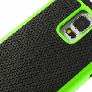 Odolný obal 2v1 na mobil Samsung Galaxy S5 - zelený - 5