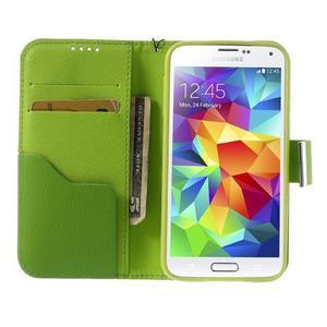 Colory PU kožené pouzdro na mobil Samsung Galaxy S5 - variant IV - 5