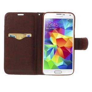Kvetinové puzdro pre mobil Samsung Galaxy S5 - modré pozadie - 5
