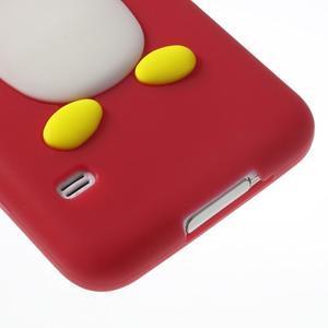 Penguin silikonový obal na Samsung Galaxy S5 - červený - 5