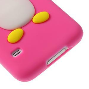 Penguin silikonový obal pre Samsung Galaxy S5 - rose - 5