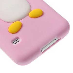 Penguin silikonový obal pre Samsung Galaxy S5 - ružový - 5