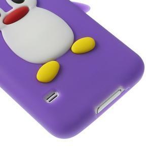 Penguin silikonový obal pre Samsung Galaxy S5 - fialový - 5
