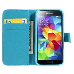 Emotive PU kožené puzdro pre Samsung Galaxy S5 mini - farebné kvety - 5