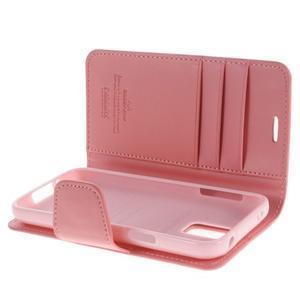 Sonata PU kožené puzdro pre Samsung Galaxy S5 mini - ružové - 5