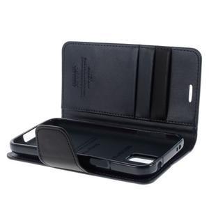 Sonata PU kožené pouzdro na Samsung Galaxy S5 mini - tmavěmodré - 5