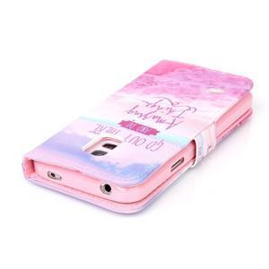 Stand peňaženkové puzdro pre Samsung Galaxy S5 mini - myšlienky - 5
