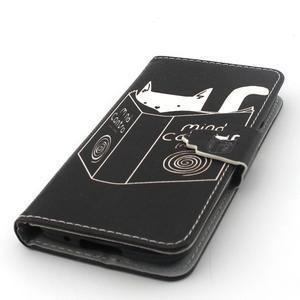 Peňaženkové puzdro pre mobil Samsung Galaxy S5 mini - kniha a mačička - 5