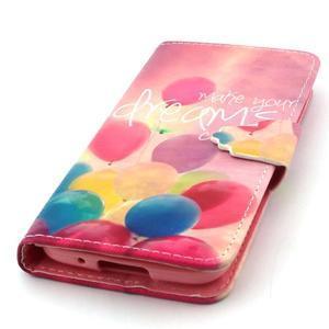 Peňaženkové puzdro pre mobil Samsung Galaxy S5 mini - balónky - 5