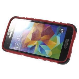 Outdoor odolný obal na mobil Samsung Galaxy S5 mini - červený - 5