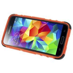 Outdoor odolný obal pre mobil Samsung Galaxy S5 mini - oranžový - 5
