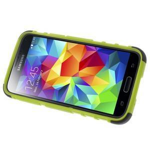 Outdoor odolný obal na mobil Samsung Galaxy S5 mini - zelený - 5