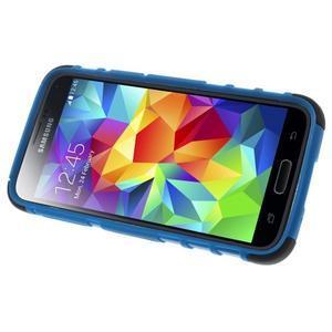 Outdoor odolný obal pre mobil Samsung Galaxy S5 mini - modrý - 5