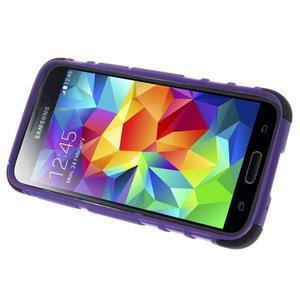 Outdoor odolný obal pre mobil Samsung Galaxy S5 mini - fialový - 5