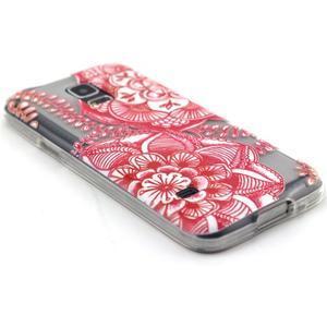 Transparentný gélový obal pre mobil Samsung Galaxy S5 mini - mandala - 5