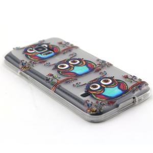 Transparentní gelový obal na mobil Samsung Galaxy S5 mini - sovy - 5