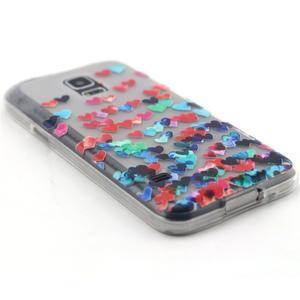 Transparentní gelový obal na mobil Samsung Galaxy S5 mini - srdíčka - 5
