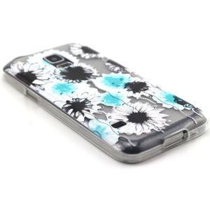Transparentný gélový obal pre mobil Samsung Galaxy S5 mini - sedmikrásky - 5