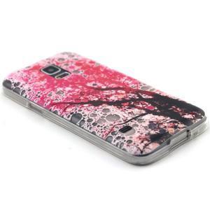 Transparentný gélový obal pre mobil Samsung Galaxy S5 mini - kvitnúca čerešňa - 5