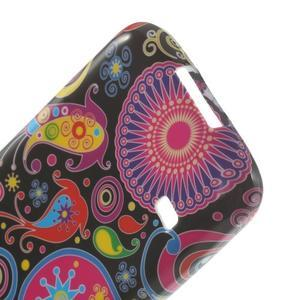 Softy gélový obal pre Samsung Galaxy S5 mini - farebné kruhy - 5