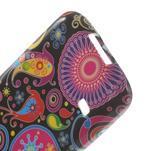 Softy gélový obal pre Samsung Galaxy S5 mini - farebné kruhy - 5/5