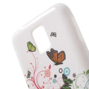 Softy gélový obal pre Samsung Galaxy S5 mini - magické motýle - 5