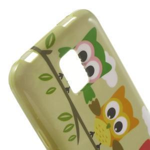Softy gélový obal pre Samsung Galaxy S5 mini - sovy na vetve - 5