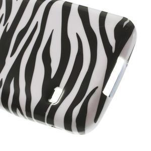 Softy gélový obal pre Samsung Galaxy S5 mini - zebra - 5