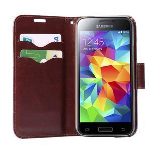 Květinové pouzdro na mobil Samsung Galaxy S5 mini - černé pozadí - 5