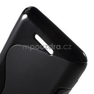 S-line gélový obal pre Sony Xperia E4g - čierny - 5