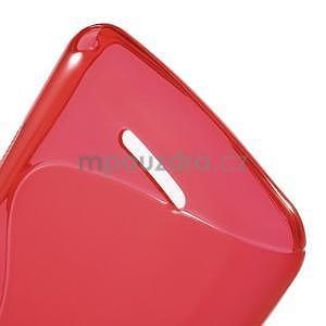 S-line gélový obal pre Sony Xperia E4g -  červený - 5