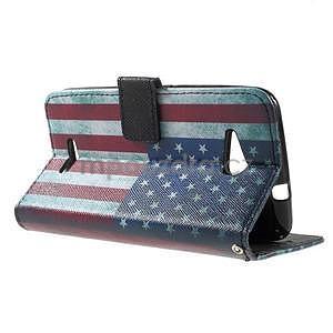 Peňaženkové puzdro na Sony Xperia E4g - USA vlajka - 5