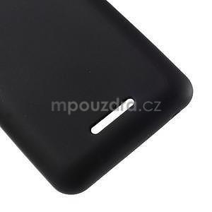 Obal z matného gélu pre Sony Xperia E4g - čierny - 5