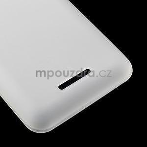 Obal z matného gélu pre Sony Xperia E4g - biely - 5