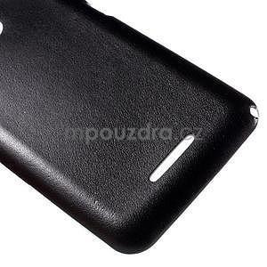 Gélový obal na Sony Xperia E4g s koženkovým chrbtom - čierny - 5
